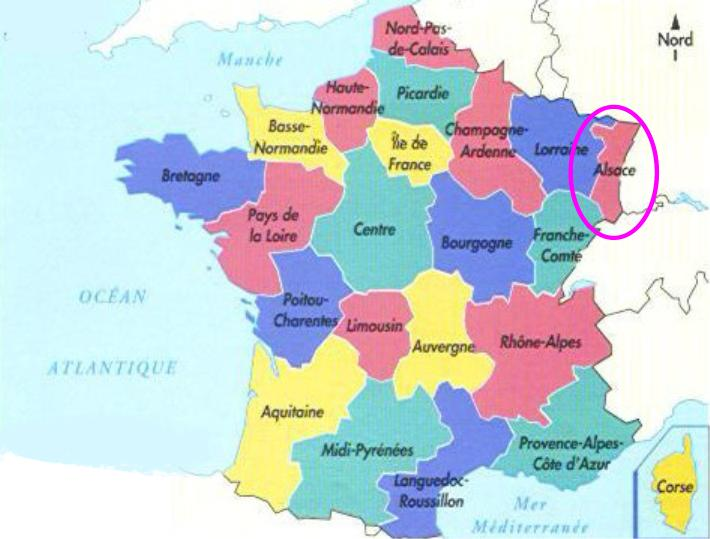 carte de france alsace
